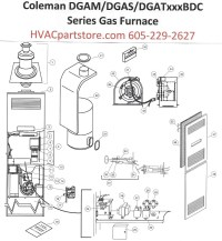 DGAT075BDD Coleman Gas Furnace Parts  HVACpartstore