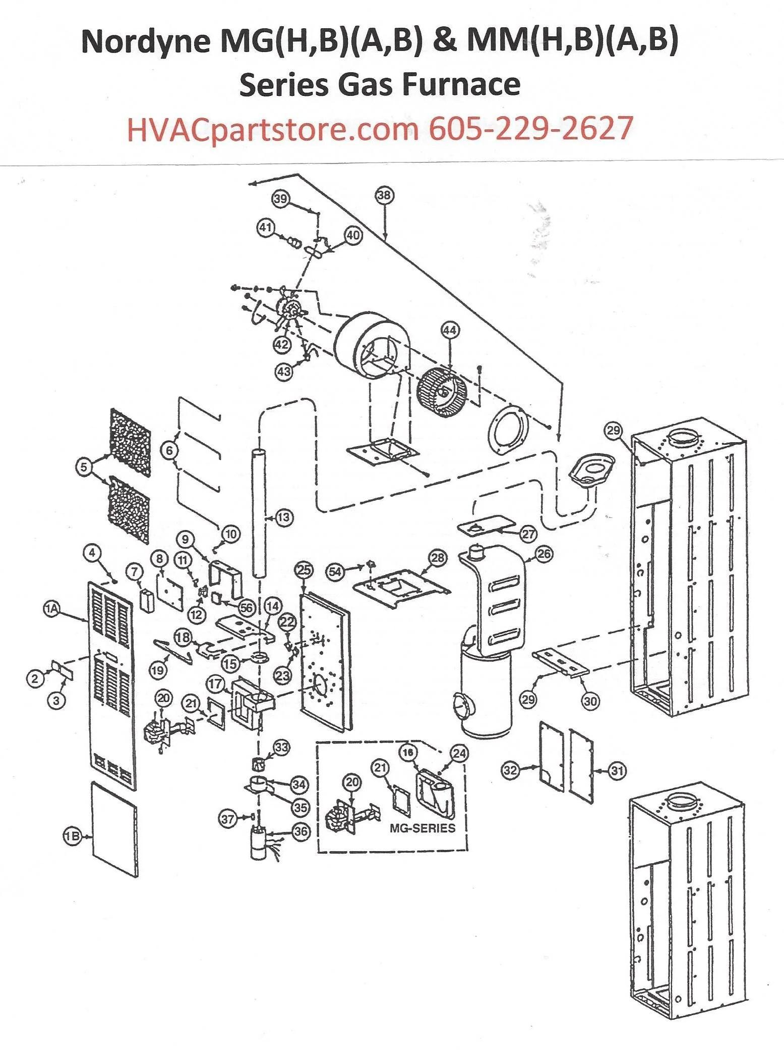 nordyne gas furnace wire diagram