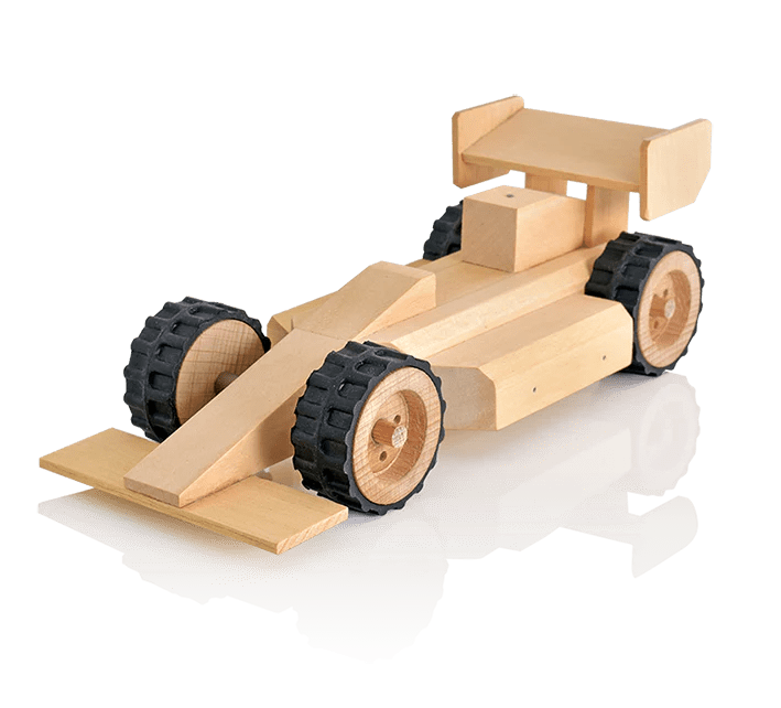 Wooden Toy Racing Car For Kids To Build Wooden Car