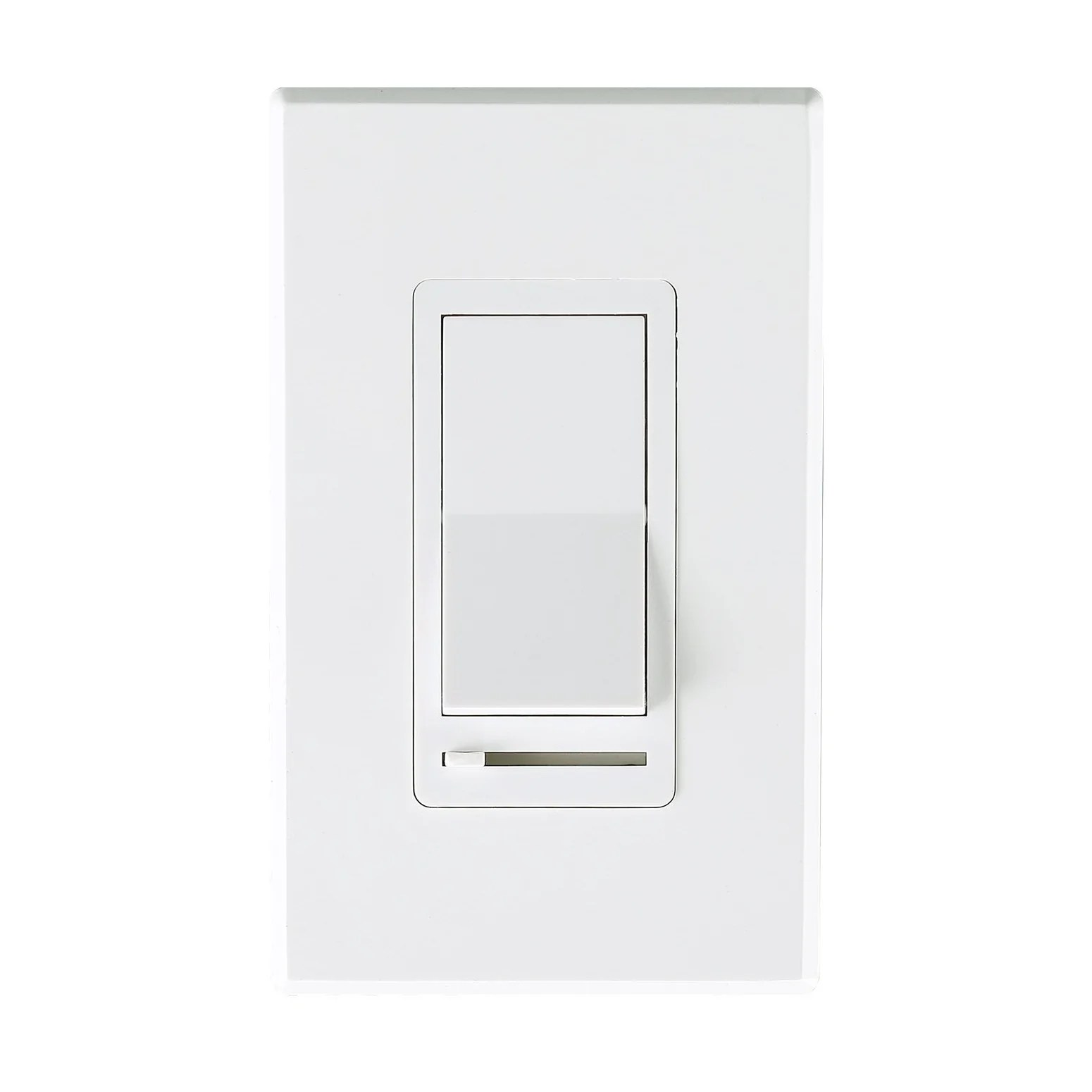 Dimmer Switch In Wall Dimmer Switch For Led Light Cfl Incandescent 3 Way Single Pole Cover Plate Included White
