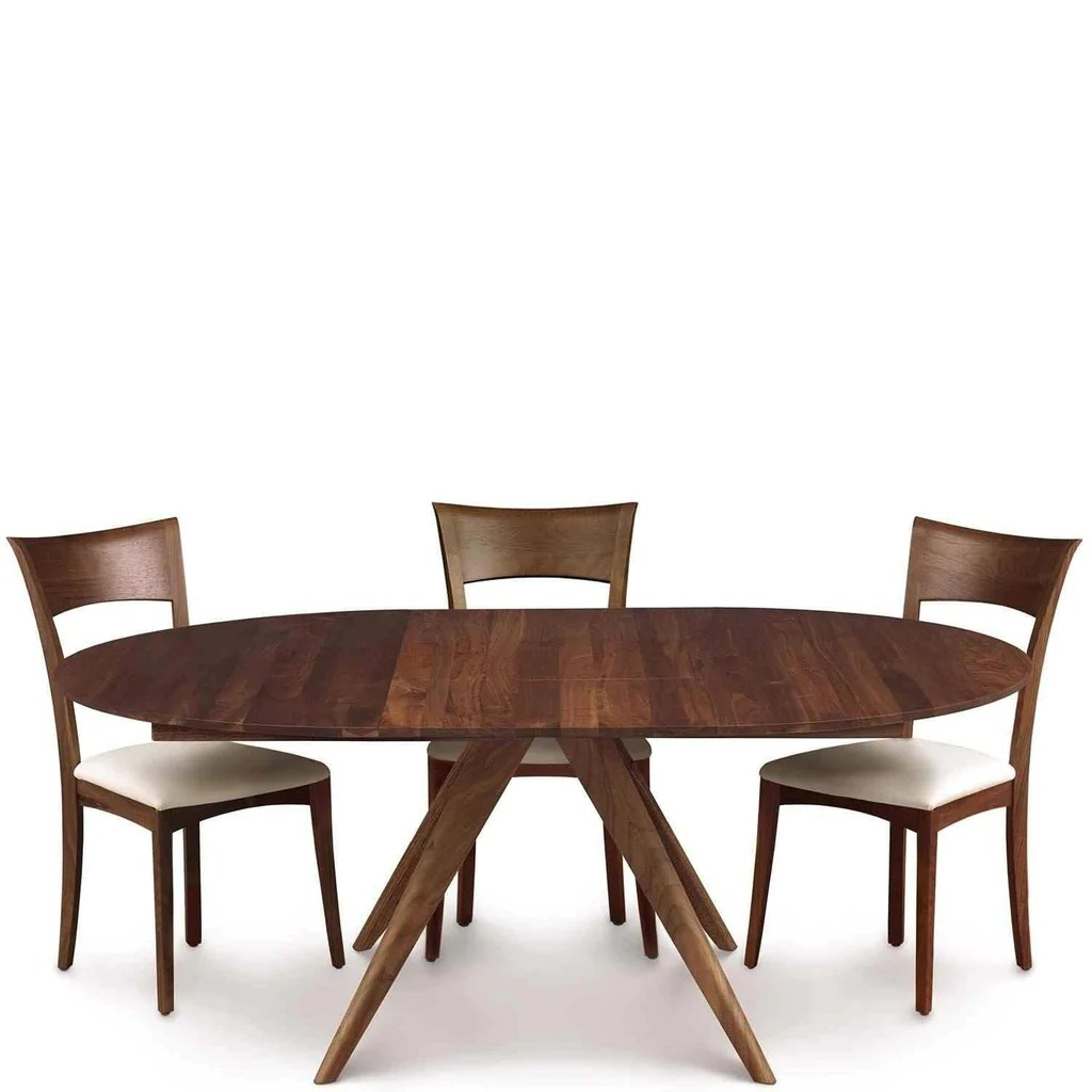Round Dining Table With Extensions Catalina Round Extension Dining Table In Walnut