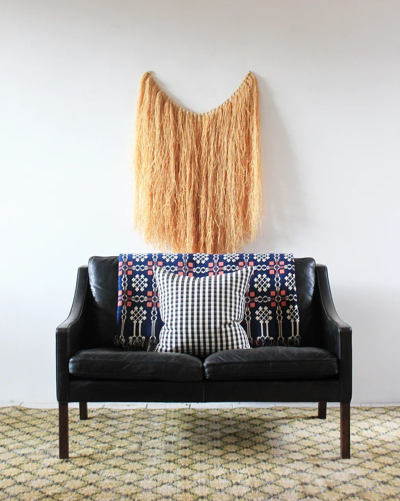 Sofa Test Borge Mogensen Sofa Vintage Blanket Check Pillow And Swedish Rug