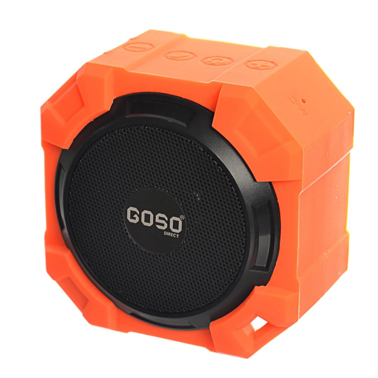 Speaker Equipment Goso Outdoor Waterproof Bluetooth Speaker Rugged Shockproof Rechargeable Wireless Portable Speaker With Microphone Orange