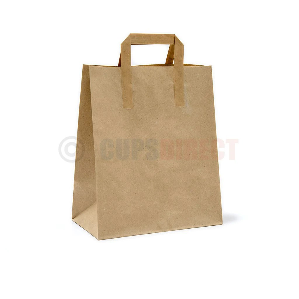 Brown Paper Bags With Handles Kmart Brown Paper Bags Sos Handle Range Cupsdirect