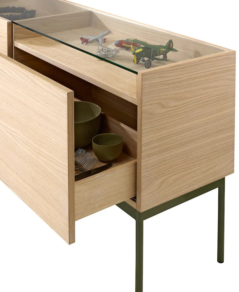 Sideboard 160 Asplund Luc 160 Sideboard With Drawers Glass Top Horne