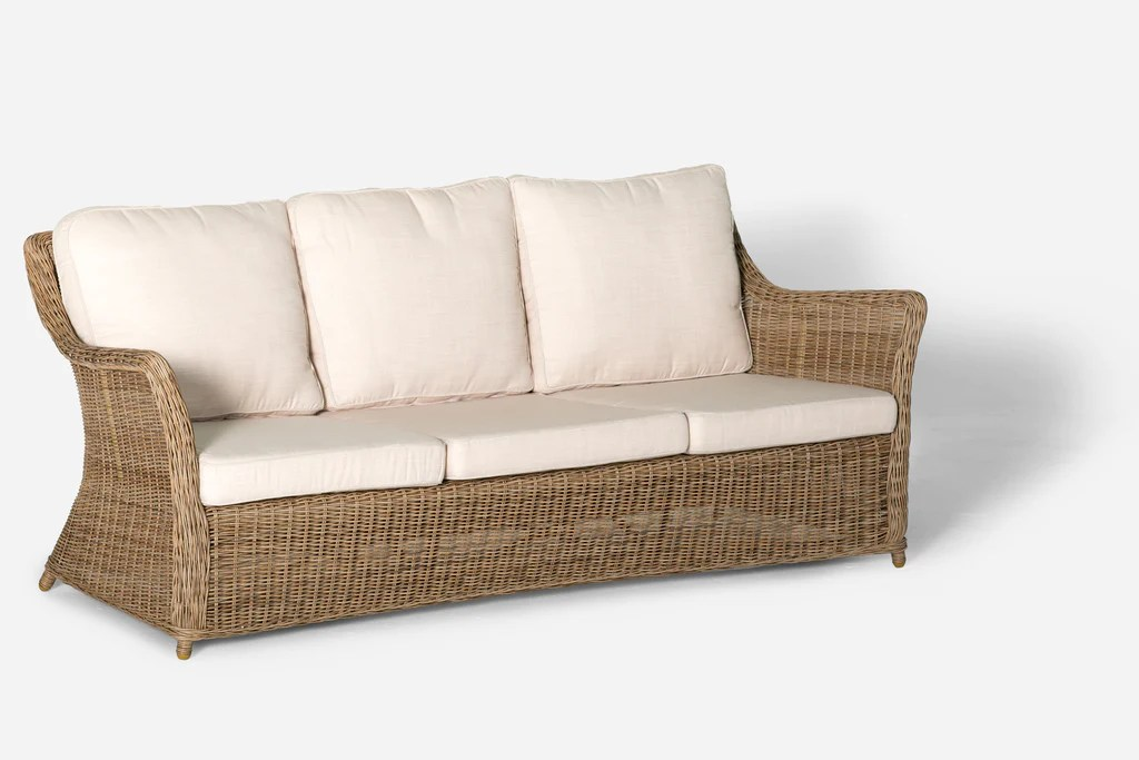 Tantra Sofa Dimensions Ithaca Outdoor 3 Seat Sofa Natural | Interiors Online