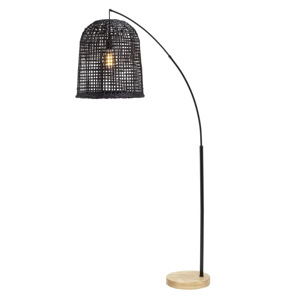Weave Floor Lamp Black Interiors Online