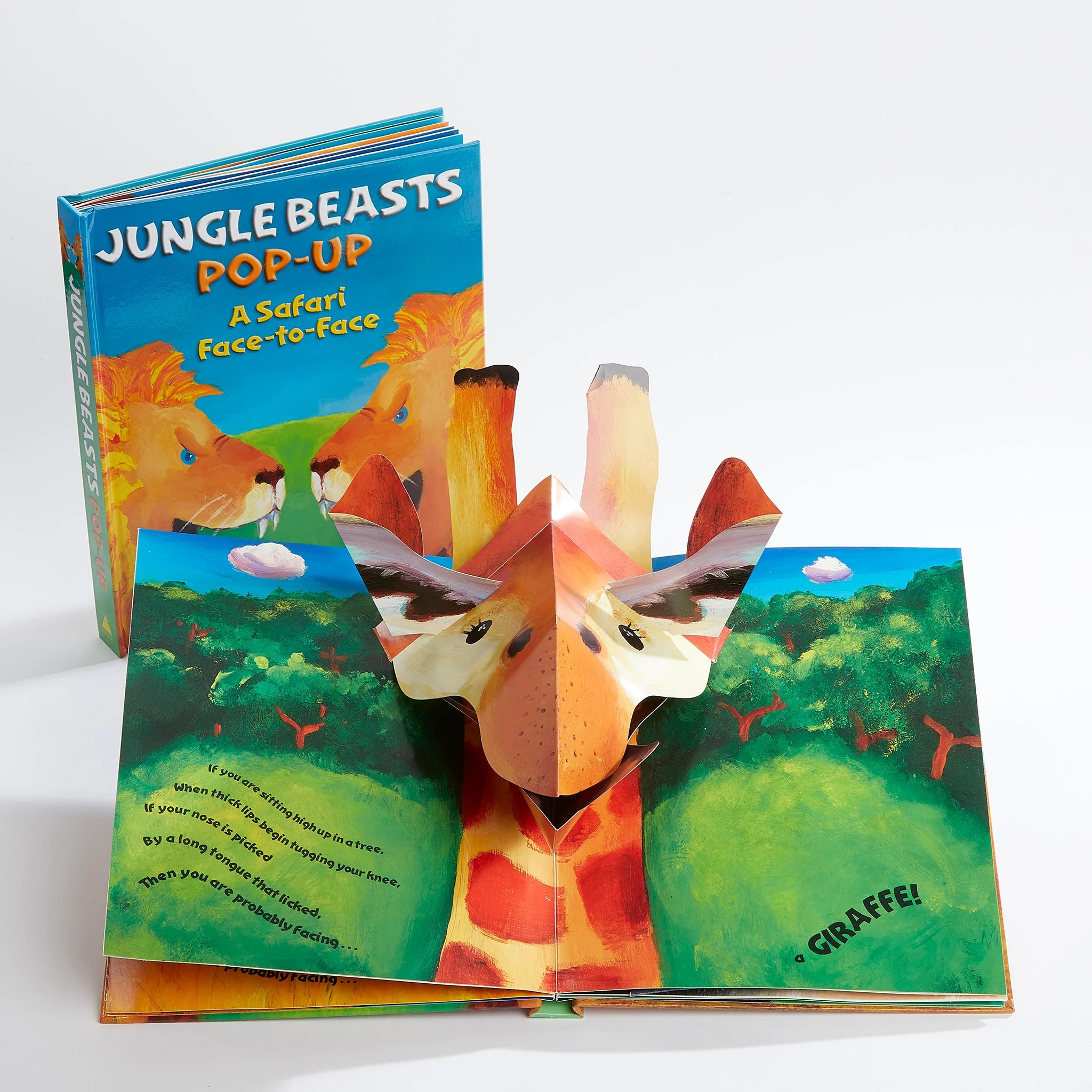 Pop Up Book Cover Jungle Beasts Pop Up Book
