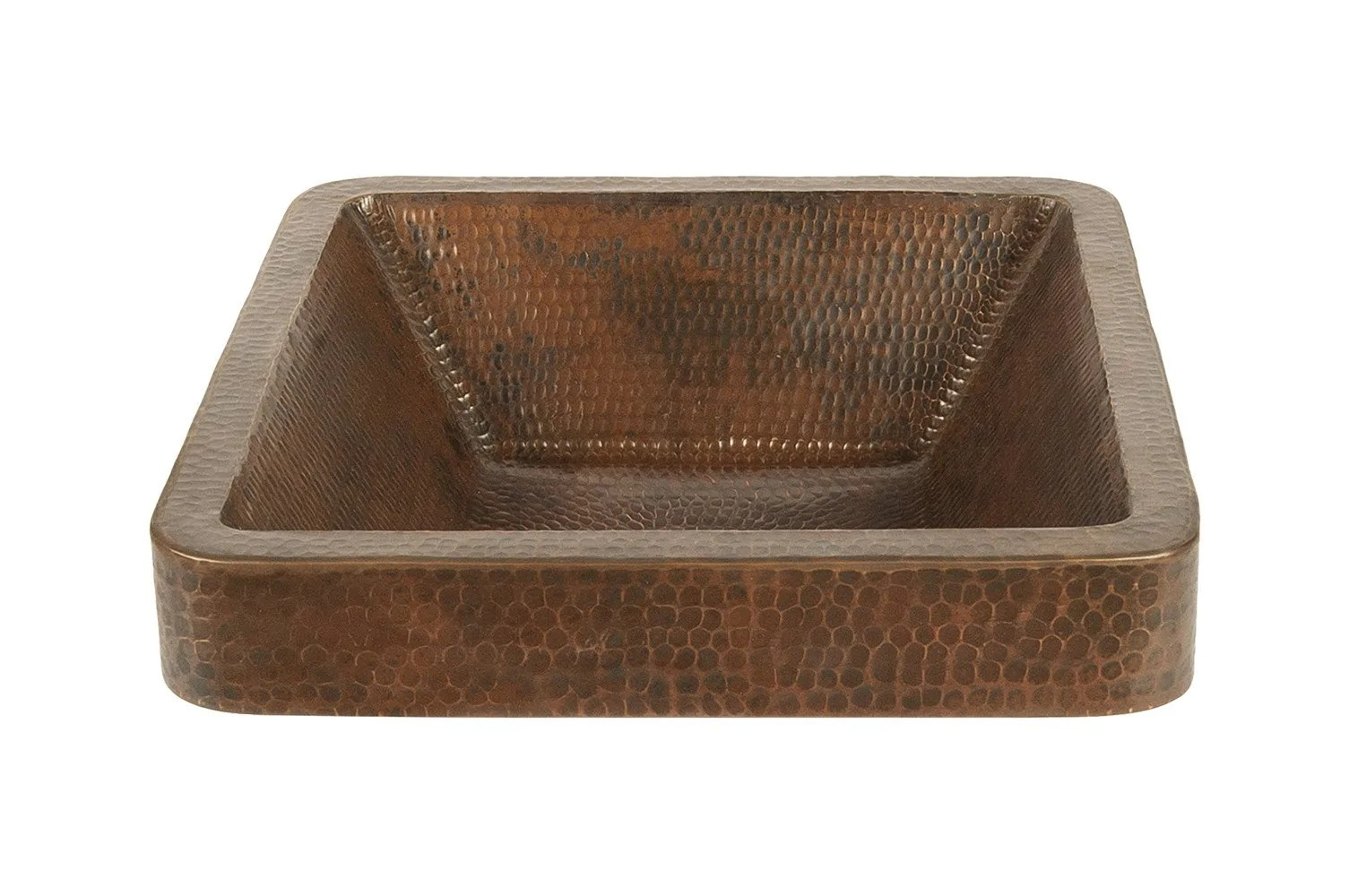 Round Vessel Tub Hammered Copper Sink Fixture House Direct