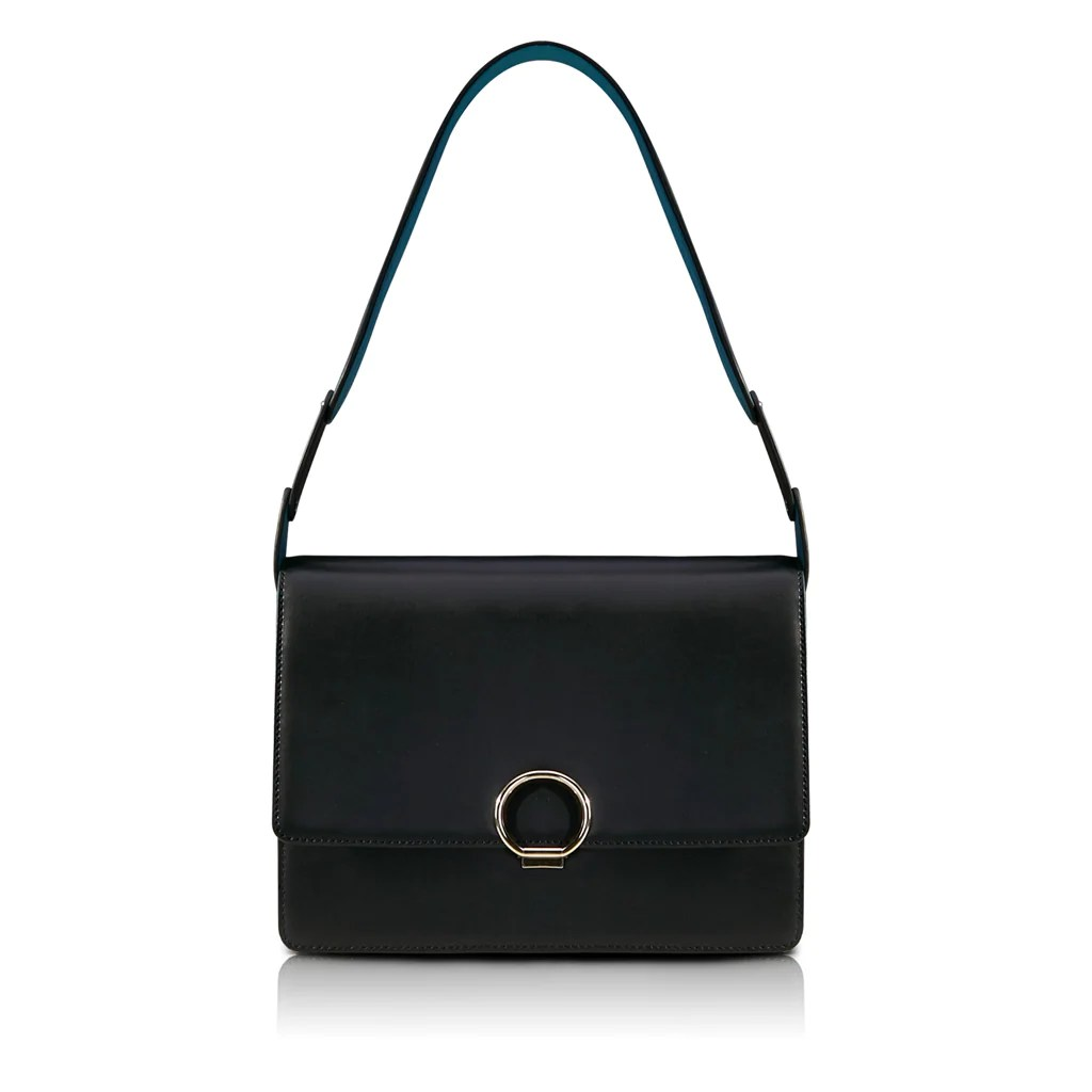 Halo Shoulder Bag Black Unitude Leather Bags For Women