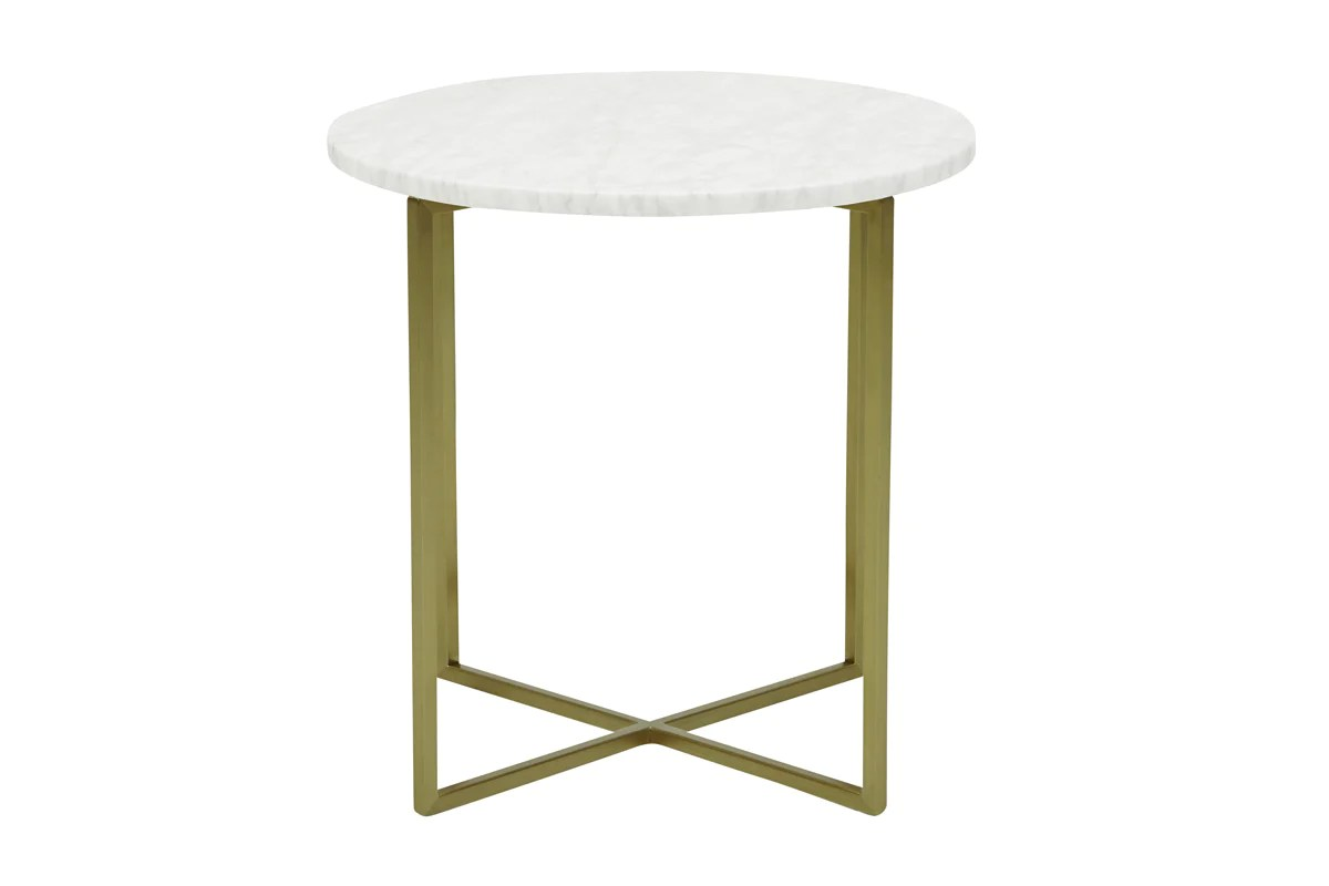 Table Luxe Elle Luxe Marble Round Side Table Urban Rhythm