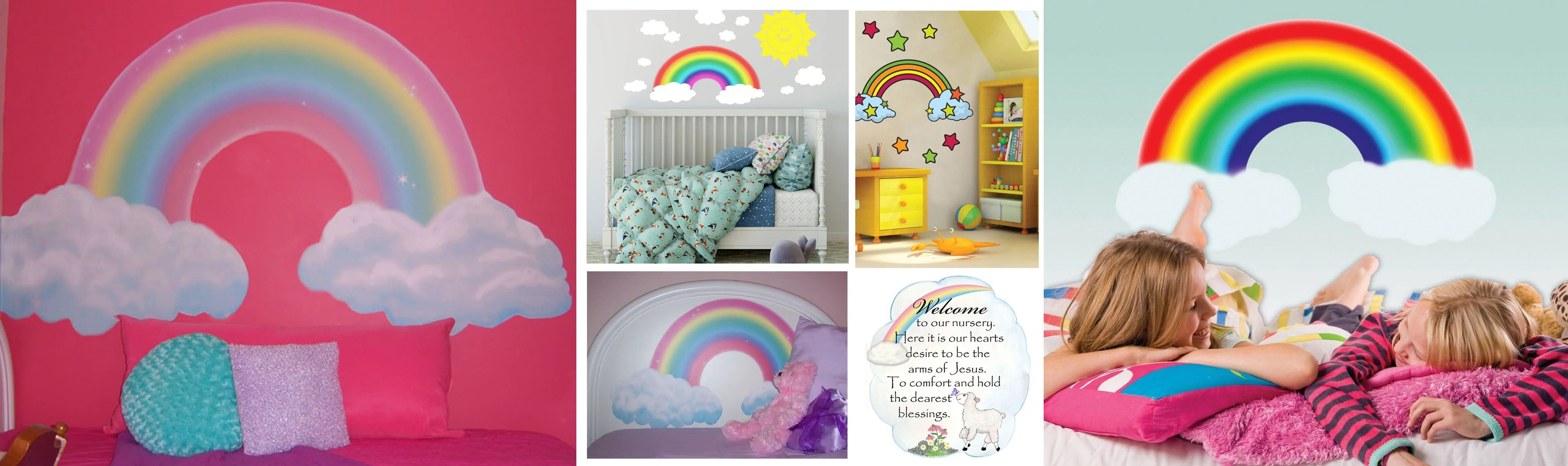Rainbow Kids Rooms Rainbow Wall Decals And Murals