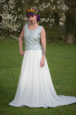 Small Of Dip Dye Wedding Dress