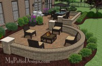 Beautiful Backyard Patio Design with Seat Wall | Download ...