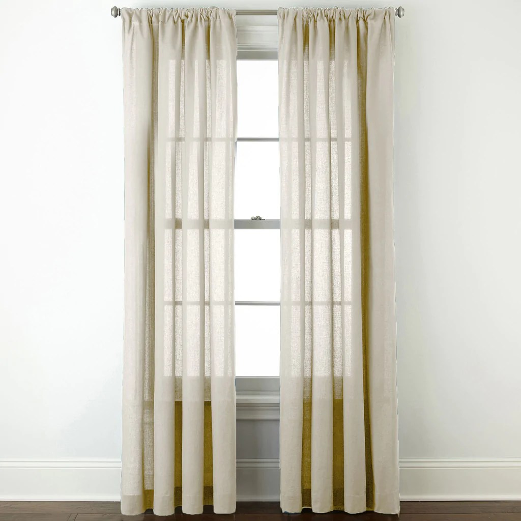 Cotton Curtain Panels Cotton Classics Solid Rod Pocket Curtain Panel Ivory