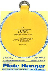 Flatirons Disc Adhesive Plate Hangers, set of four 5.5 ...