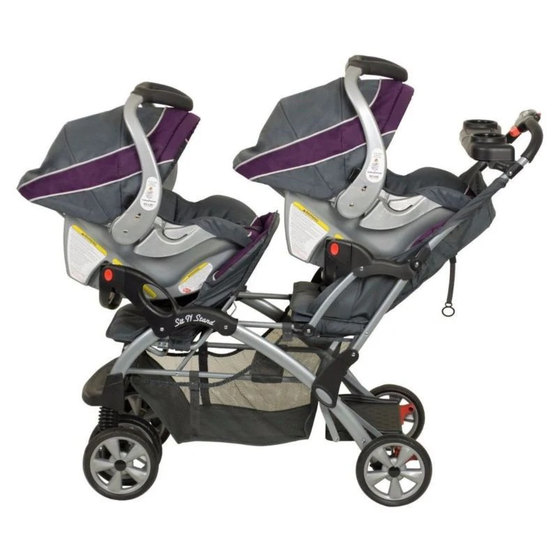 Infant Baby Trend Car Seat Double Twin Stroller Travel System With Infant 2 Car