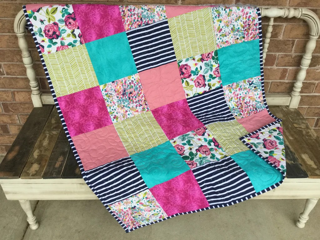 Baby Quilts.com Stem Rose Baby Quilt