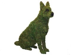 Plush German Shepherd Sitting Iary Sculpture Wire Frame Or Moss Filled Alligator Moss Wire Iary Sculpture Henderson Supply German Shepherd Sitting Images German Shepherd Sitting Weird