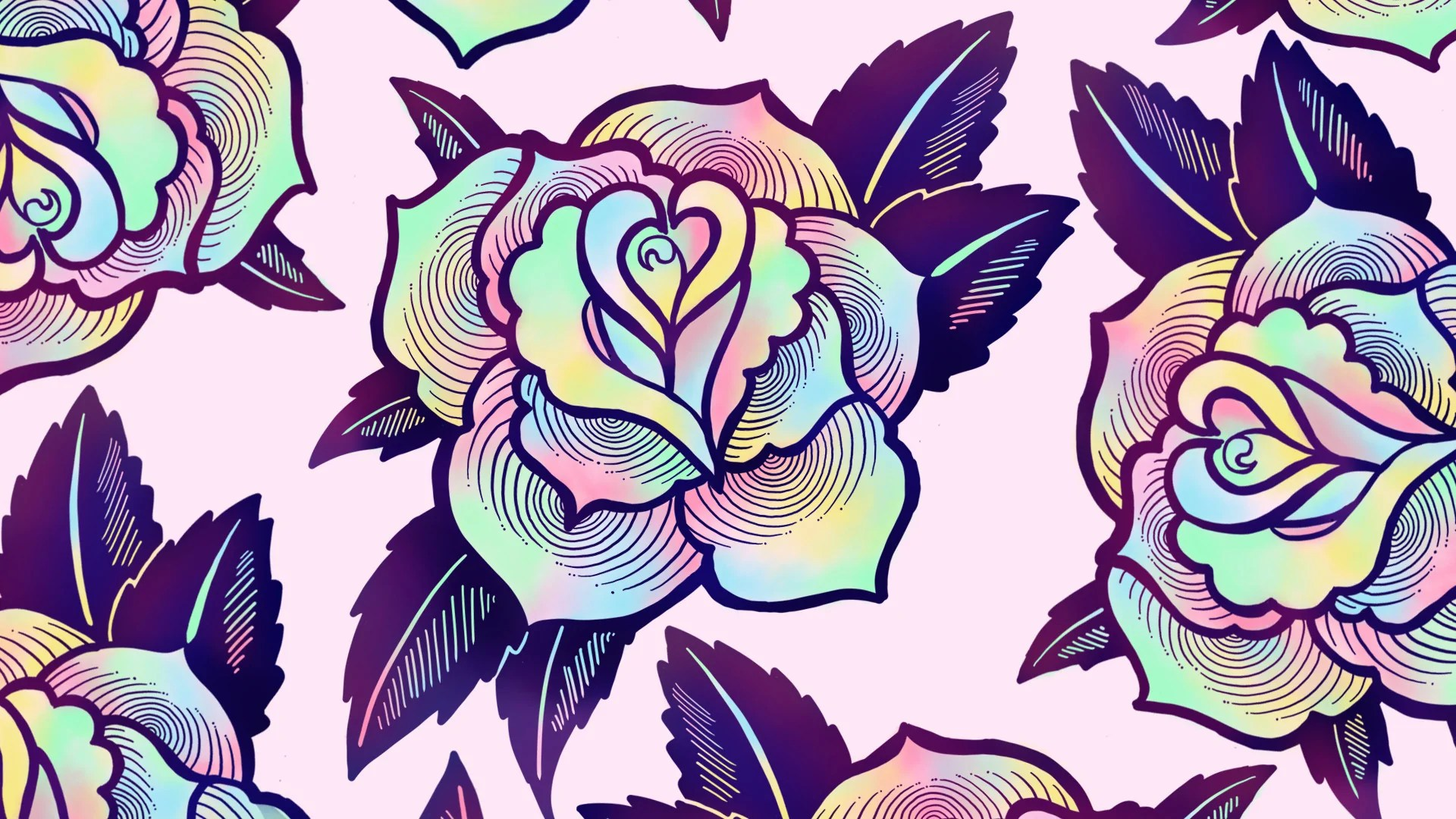 Iphone Wallpaper Trippy Free Digital Download Psychedelic Rose Wallpaper Ectogasm