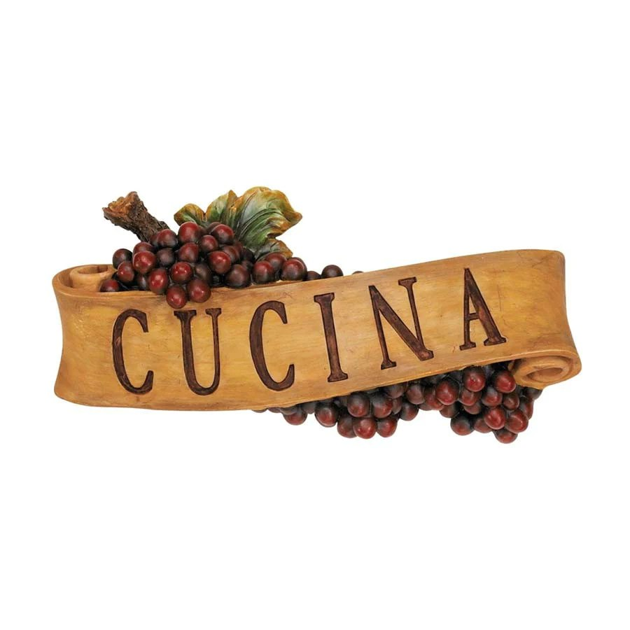 Cucina Kitchen Products Italian Cucina Kitchen Grapes Sculptural Wall Plaque Decor