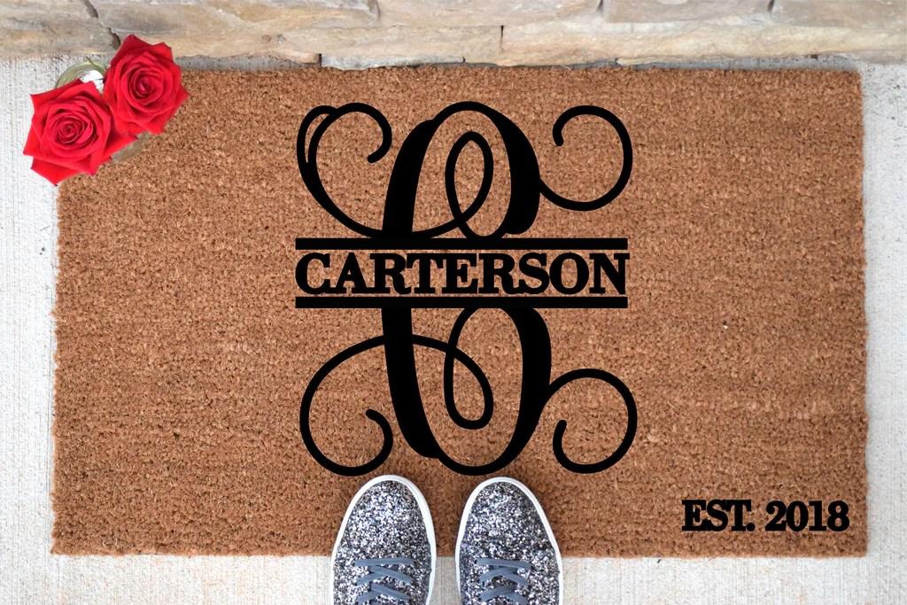 Personalized Door Mat Custom Doormat Custom Last Name