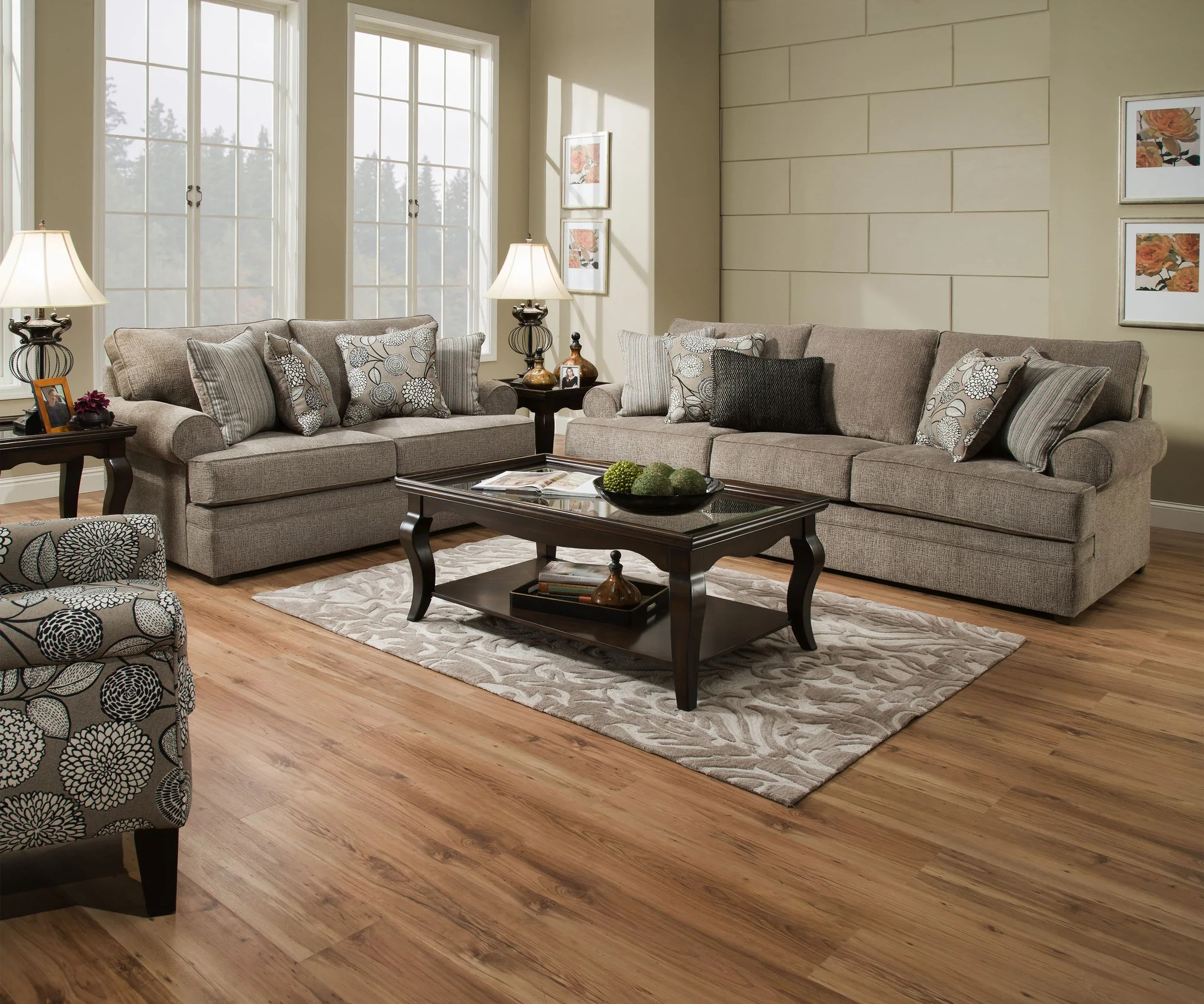 Macy Sofa And Loveseat Pewter Affordable Furniture Source