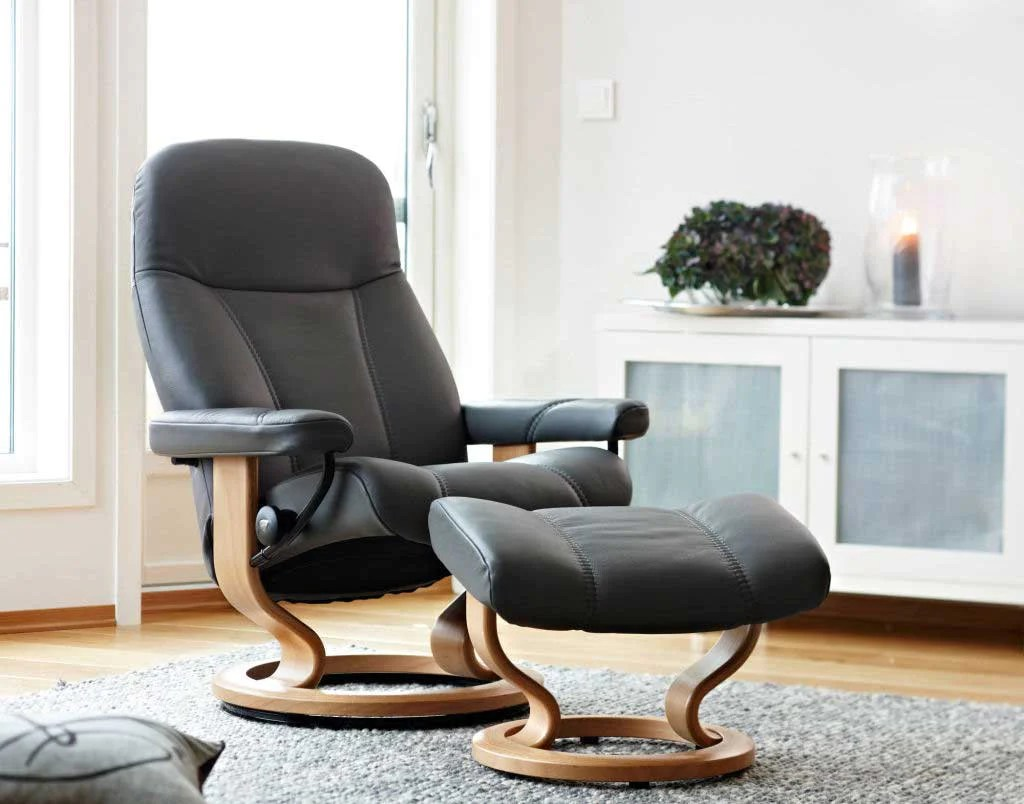 Stressless Consul L Stressless Consul Recliner Chair With Footstool L Classic Base