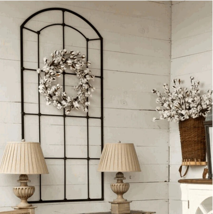 Window Wall Designs Metal Window Frame Wall Decor Revibe Designs