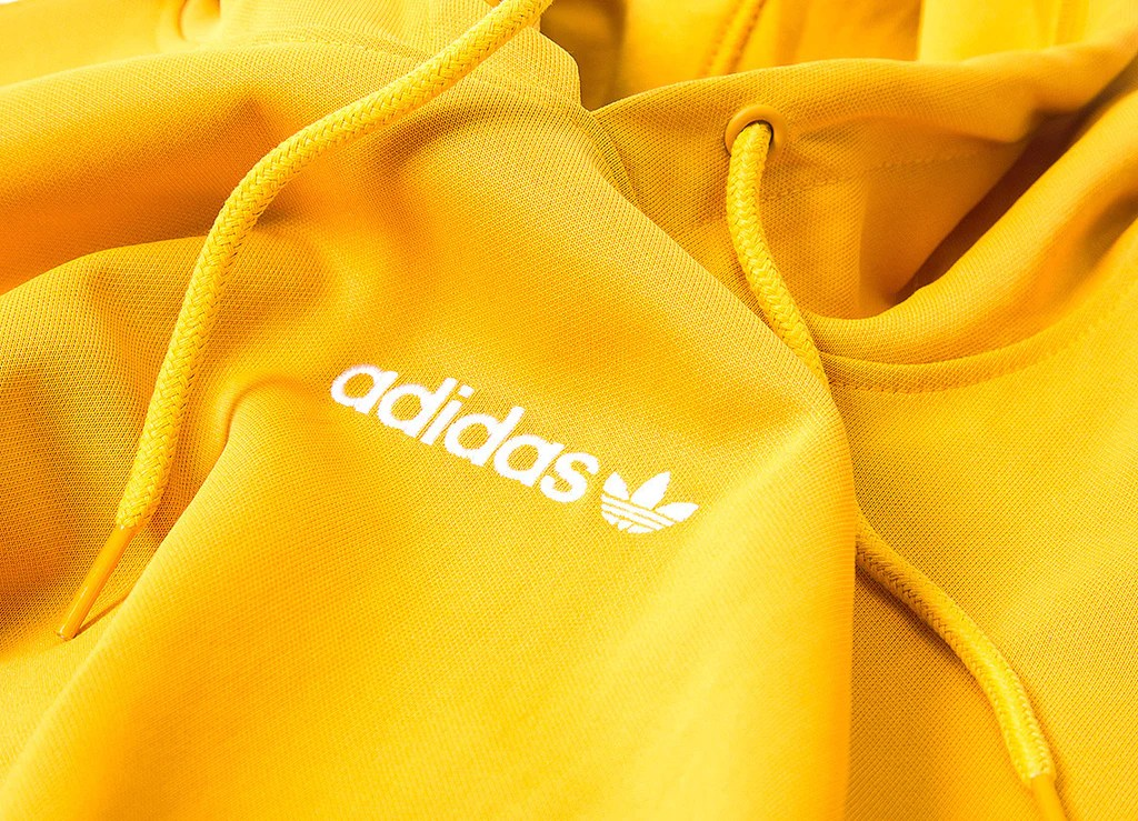 Pull Over Hoodie Adidas Originals Tnt Trefoil Tape Pullover Hoody Yellow