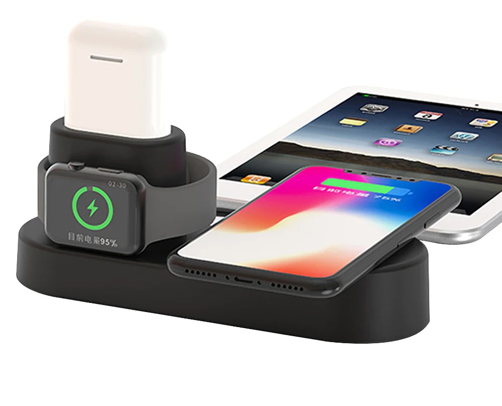 Wireless Charging Iphone Ipm 4 In 1 Aluminum Alloy Ultra Fast Wireless Charging Station For Apple Watch Iphone And Apple Airpods