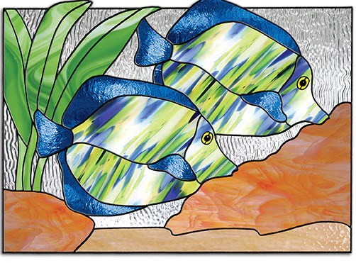Folding Screen Ikea Free Stained Glass Patterns - Tropical Fish By Lisa Vogt