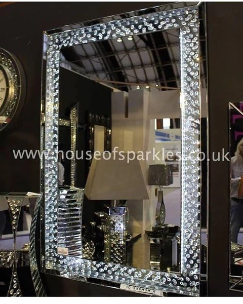 Floating Round Beds *pre Order - Floating Crystal Led Wall Mirror – House Of