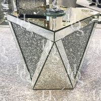 Diamond Crush V Side Table  House of Sparkles