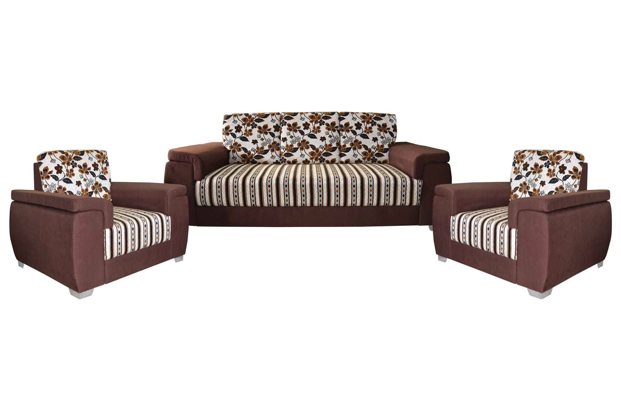 Sofa Set Online Mayro Fabric 3 1 1 Sofa Set Brown
