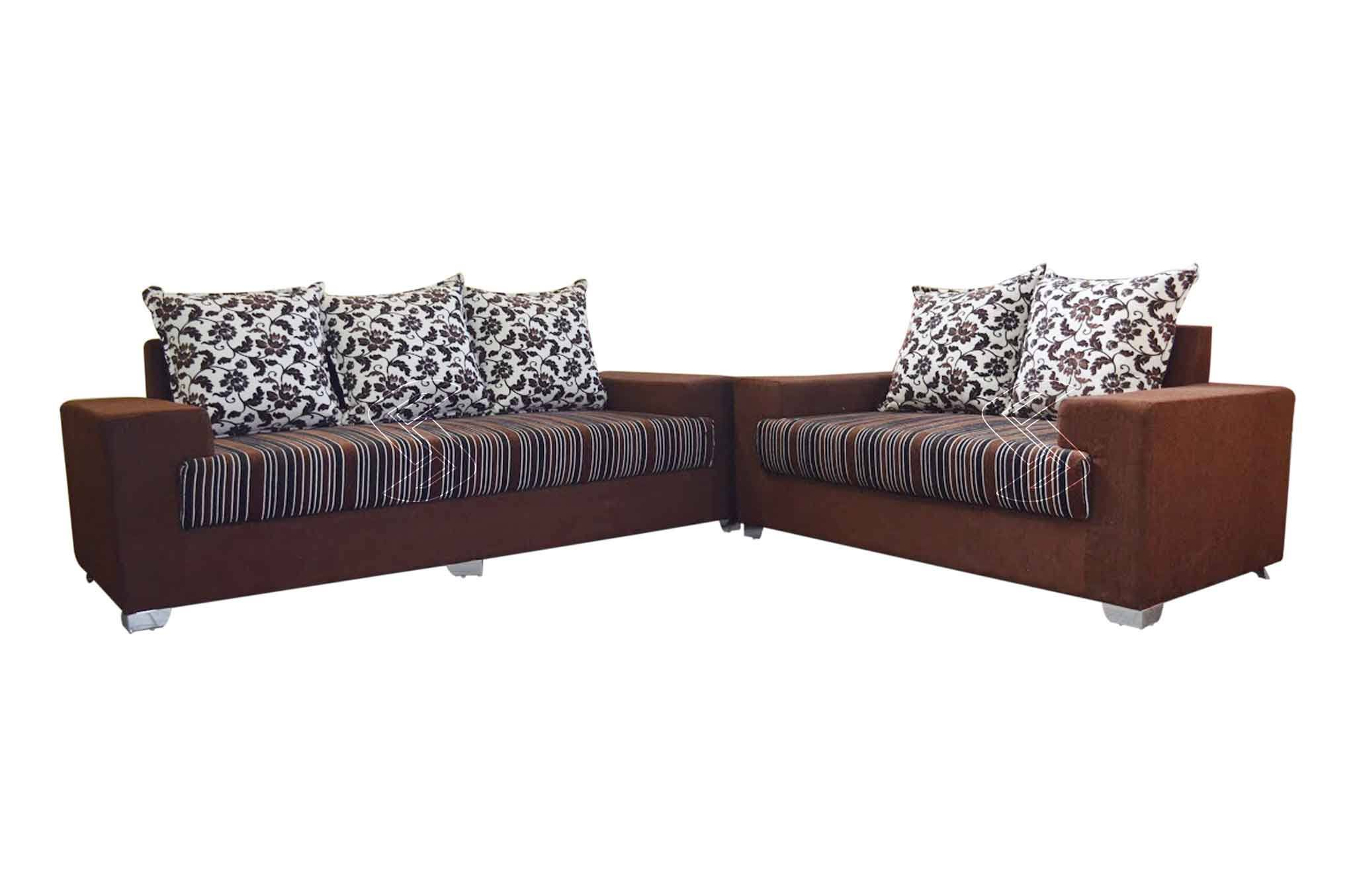 Sofa Set Online Balzan Fabric 3 2 Sofa Set Dark Brown