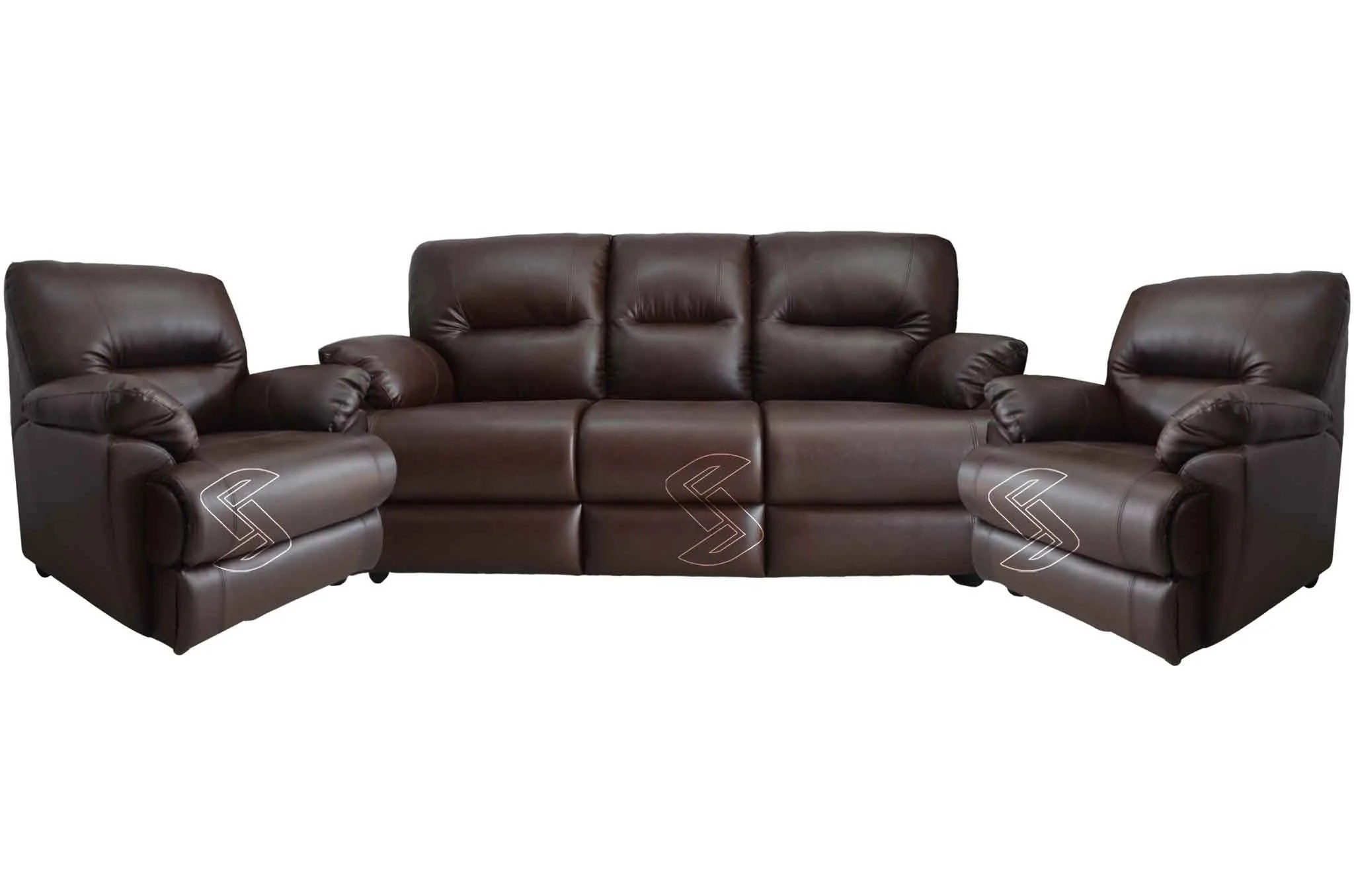 Sofa Set Online Losco Leatherette 3 1 1 Sofa Set Dark Brown