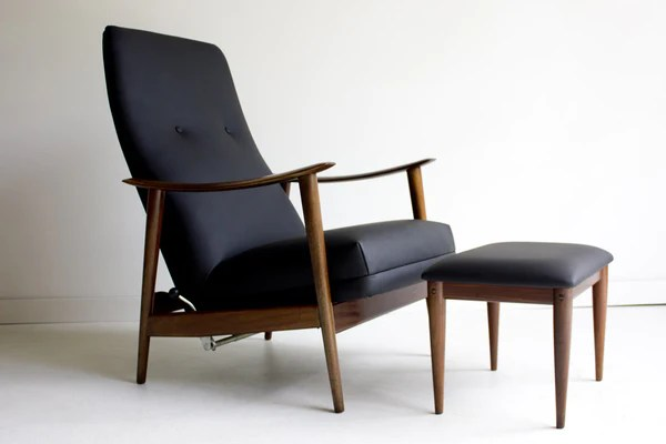 Danish Lounge Chair And Ottoman For Westnofa 01231606