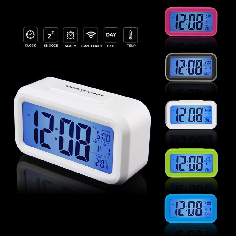 Digital Clock For Sale 2016 Hot Sale Led Alarm Clock Weather Station Despertador Temperature Sounds Control Electronic Desktop Digital Table Clocks