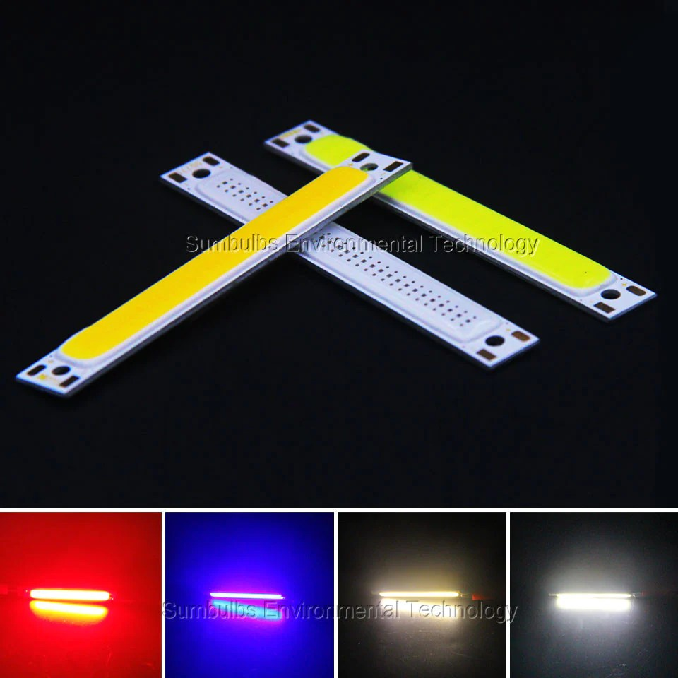 Strip Led 60x8mm 1w 3w Red Blue Cold Warm White Cob Strip Led Light Source Bar Lamp For Diy Car Work Bicycle Led Cob Lights