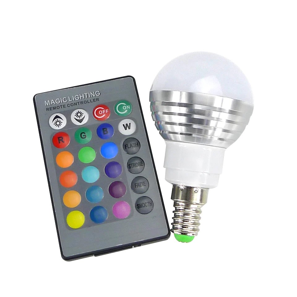 Led Bulbs Rgb Led Bulb E27 E14 16 Color Changing Light Candle Bulb Rgb Led Spotlight Lamp Ac85 265v New E14 E27 Rgb Led Bulb 5w 16 Color Change Lamp Led Spotlight Ir Remote Control Ac85 265v Christmas Decoration Lights