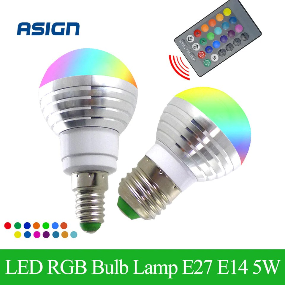 Led Bulbs Rgb Led Bulb E27 E14 16 Color Changing Light Candle Bulb Rgb Led Spotlight Lamp Ac85 265v Newest Rgb Led Bulb E27 E14 5w Led Lamp Light Led Spotlight Spot Light 16 Color Change Lampada Ac85 265v Remote Controller