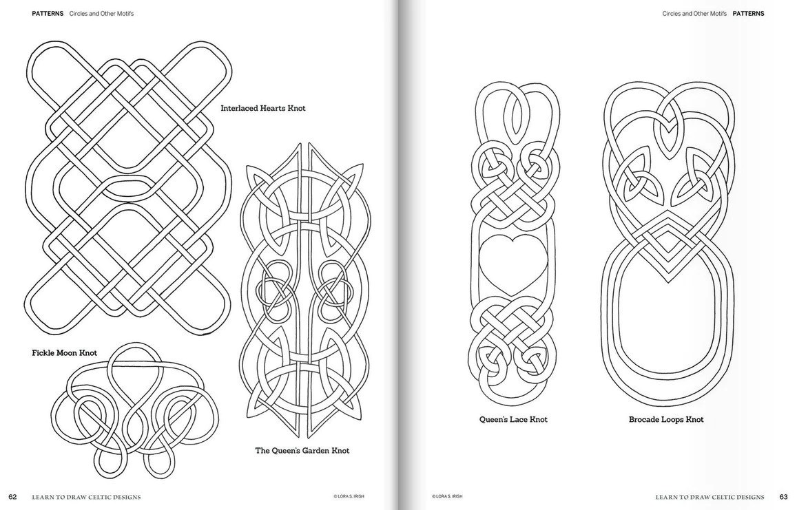 celtic irish patterns and braids