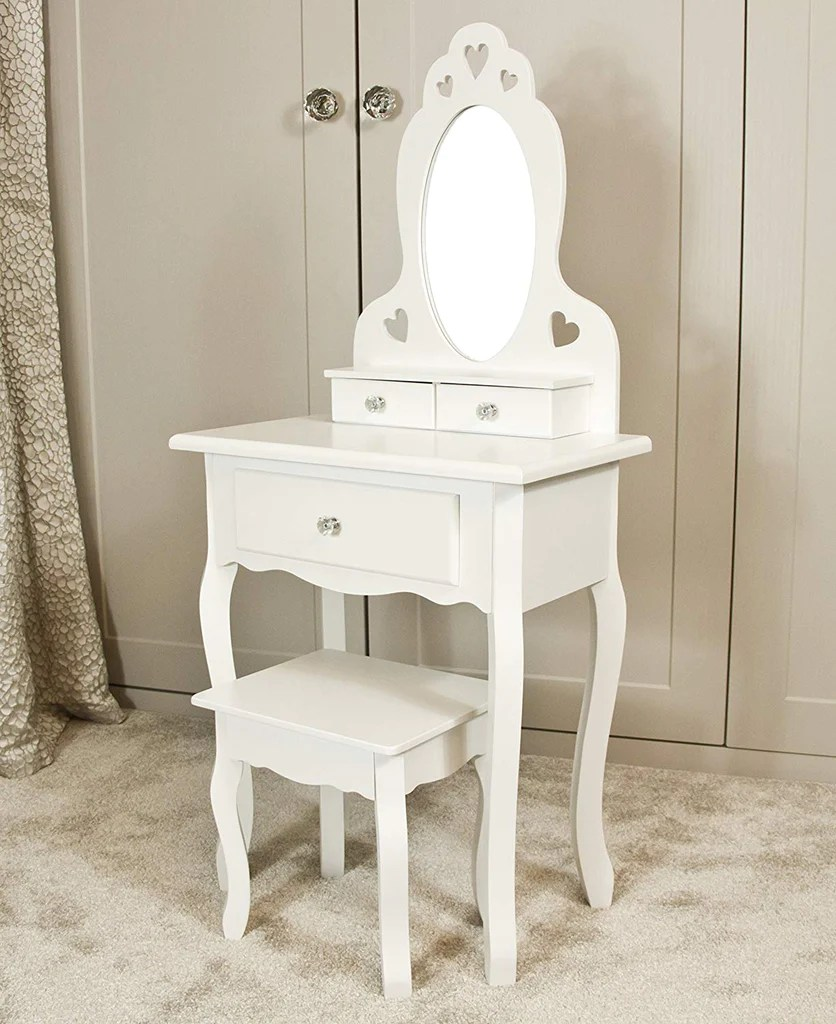 Girls Dressing Table Girls Dressing Table With Stool And Mirror Small Kids Vanity