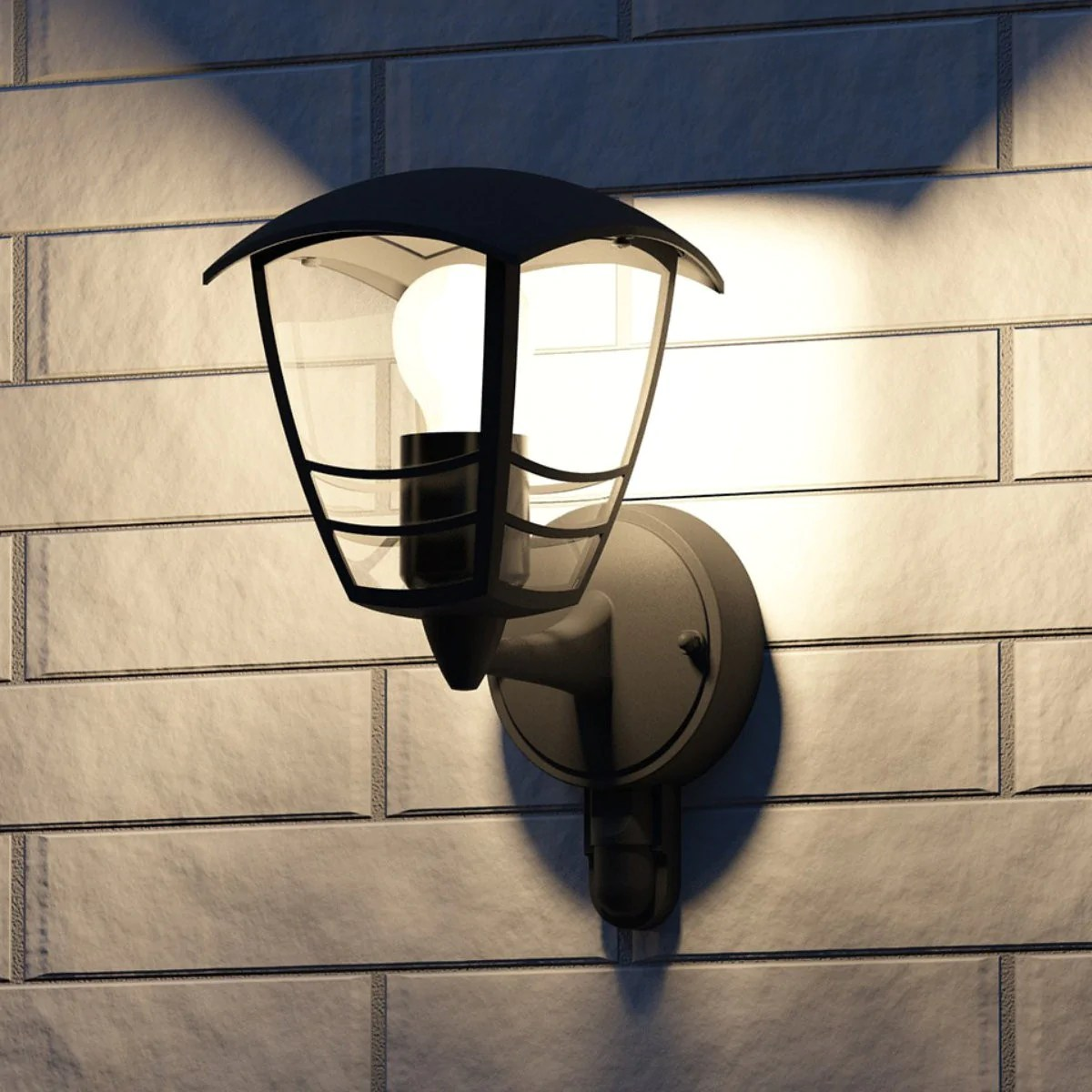 Philips Mygarden Outdoor Wall Light Philips 15388 30 16 Creek Black Outdoor Up Lantern Wall Light With Pir 153883016
