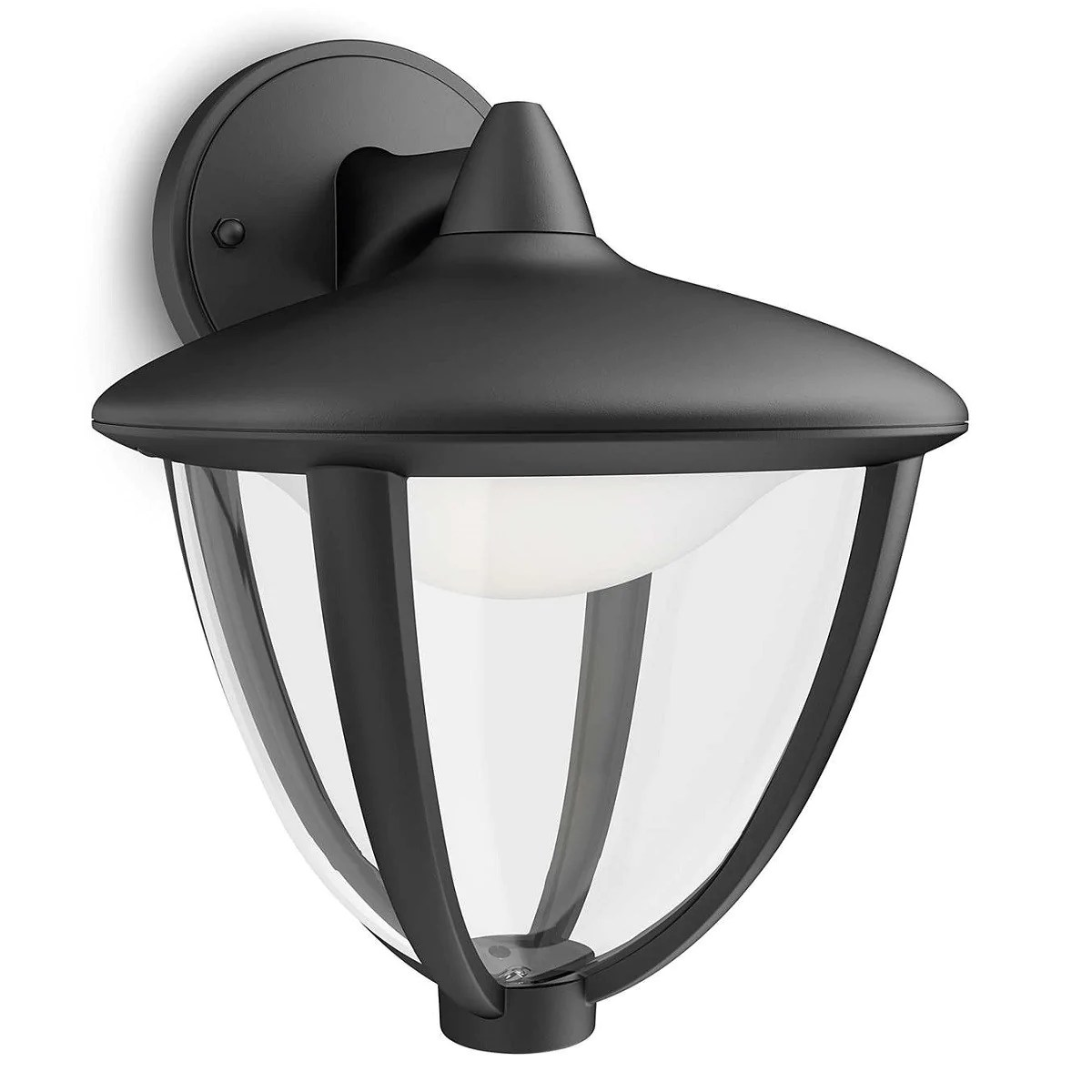 Philips Mygarden Outdoor Wall Light Philips 15471 30 16 Robin Black Led Outdoor Down Lantern Wall Light 154713016