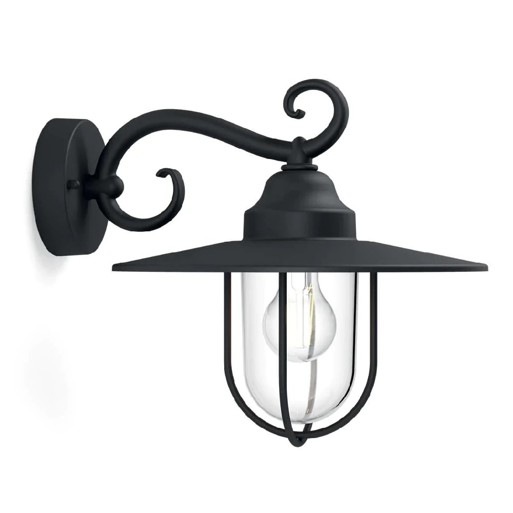 Philips Mygarden Outdoor Wall Light Philips 16270 30 Pn Pasture Black Outdoor Vintage Down Lantern Wall Light 1627030pn