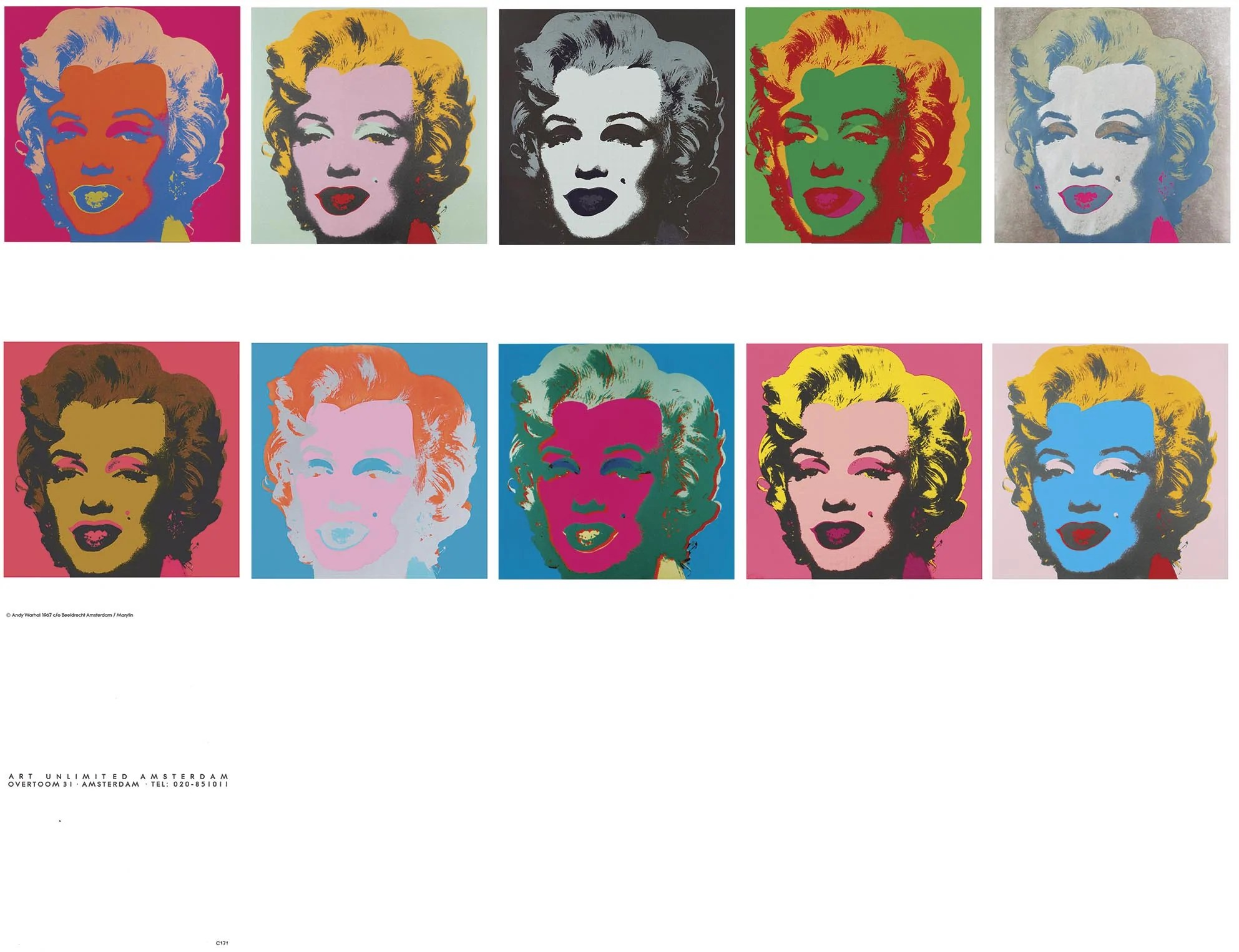 Warhol Amsterdam Marilyn Monroe Cards1967 By Andy Warhol