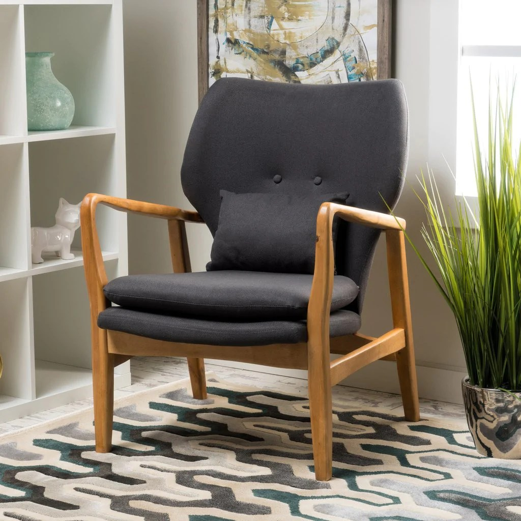 Accent Arm Chairs Fin Juhl Style Accent Arm Chair In Natural Wood Frame In Many Color Options