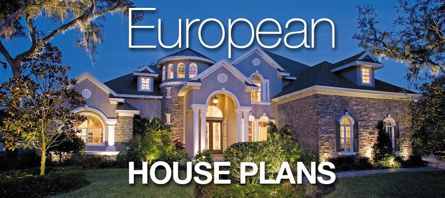 European House Plans | Sater Design Collection Home Plans